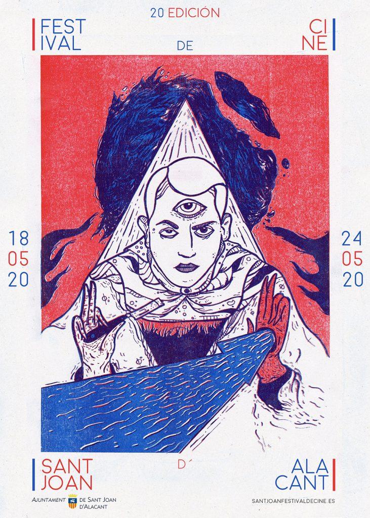 Cartel oficial del 20 Festival de Cine Sant Joan d'Alacant obra de David Gil Campesino.
